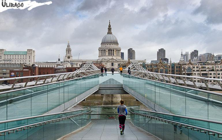 Мост Миллениум в городе Лондон