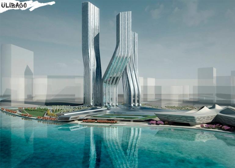 Заха Хадид Башни Signature Towers в городе Дубаи