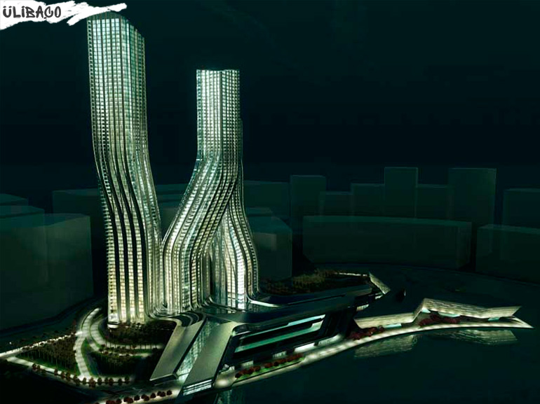 Заха Хадид Башни Signature Towers в городе Дубаи