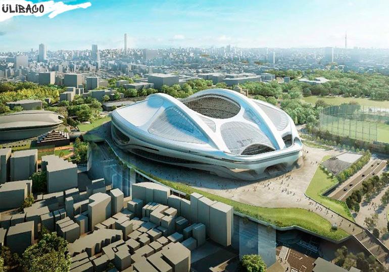 Заха Хадид Стадион для проведения олимпийских игр 2020 в городе Токио, Япония