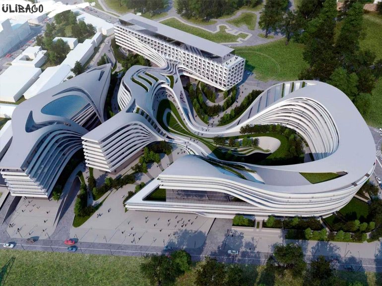 Заха Хадид Ультрасовременная гостиница Beko Masterplan в городе Белград, Сербия