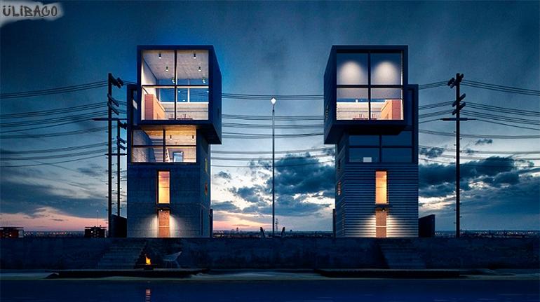 Тадао Андо Кубический дом 4×4 3