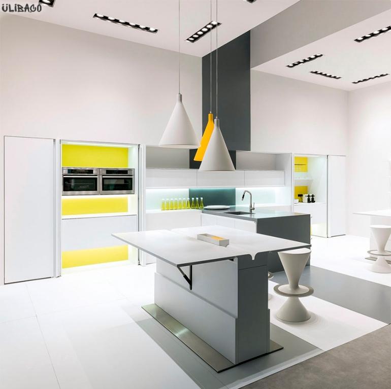 Карим Рашид Белая кухня Floor 1
