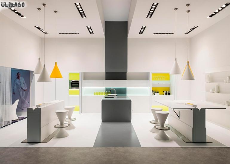 Карим Рашид Белая кухня Floor 2