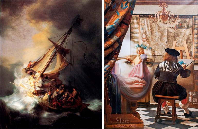 """Шупляк Олег """"Гнів Нептуна"""" 2012 та """"Ймовірний портрет Вермеєра"""" 2018"""