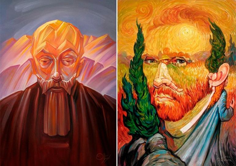 """Шупляк Олег """"Реріх"""" 2015 та """"Подвійний портрет Ван Гога"""" 2011"""