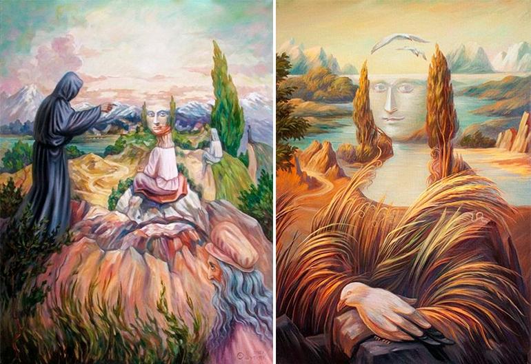 """Шупляк Олег """"Видіння в горах"""" 2012 та """"Пейзаж в італійському стилі"""" 2007"""